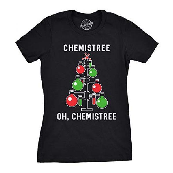 Crazy Dog T-Shirts Graphic Tshirt 1 Womens Chemistree T Shirt Funny Sarcastic Teacher Christmas Tee Nerdy Graphic