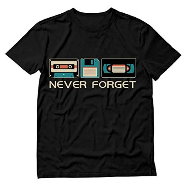Tstars Graphic Tshirt 1 Never Forget Sarcastic Gift Music Novelty Funny Retro Father's Day T-Shirt