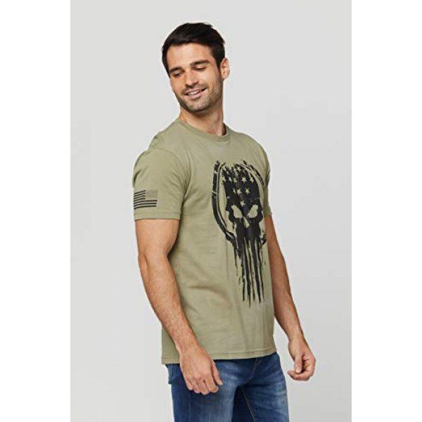 THREE VIKINGS Graphic Tshirt 2 Premium Men's American Freedom T-Shirts - Patriotic Tees - USA Tactical Flag