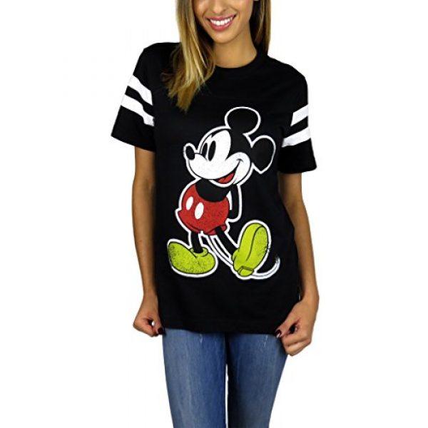 Disney Graphic Tshirt 1 Womens Mickey Mouse Varsity Football Tee