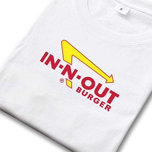 EDERFTBNHO Graphic Tshirt 2 Men's in-N-Out Burger Logo Short Sleeve T Shirts Crew Neck Essential Comfortable Shirts
