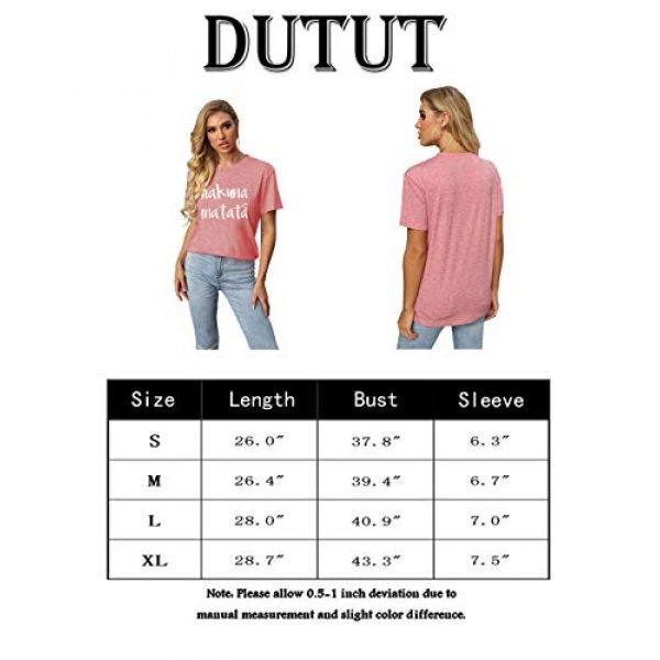 DUTUT Graphic Tshirt 6 Hakuna Matata T Shirts Women Funny Letter Print Short Sleeve Casual Loose Graphic Tee Tops