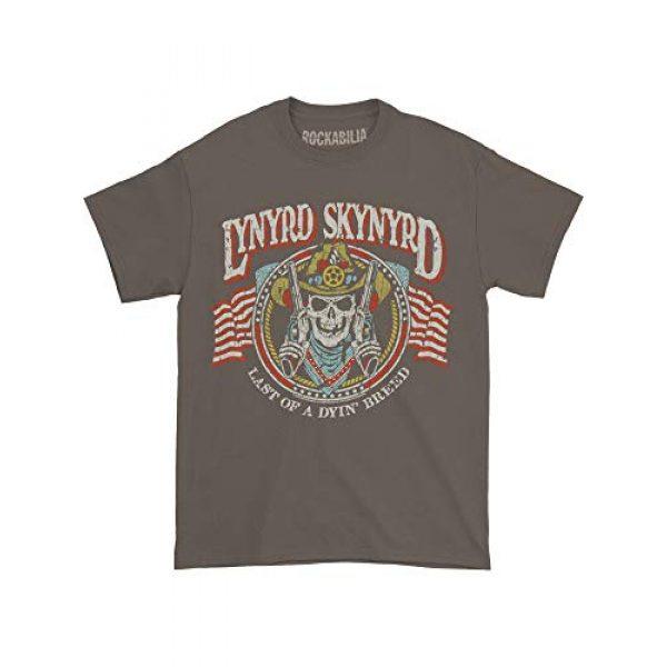 Lynyrd Skynyrd Graphic Tshirt 2 Men's Gun Skull T-Shirt Charcoal