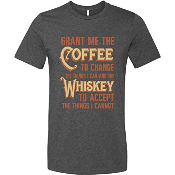 GunShowTees Graphic Tshirt 1 Men's Grant Me Coffee to Change Things I Can Whiskey to AcceptShirt