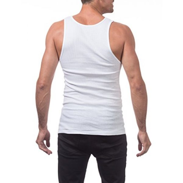 Pro Club Graphic Tshirt 2 Men's Premium Ringspun Cotton Ribbed A-Shirt
