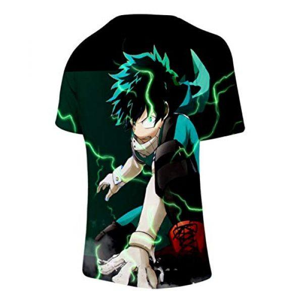 ZeroGoo Graphic Tshirt 5 Unisex 3D Print Anime Bnha Mha Deku Midoriya Bakugou Todoroki Shirt Cosplay Costume for Men Women Kid