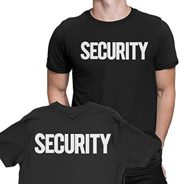 NYC FACTORY Graphic Tshirt 3 Security T-Shirt Front Back Print Mens Tee Staff Event Uniform Bouncer Screen Printed