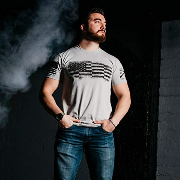 Grunt Style Graphic Tshirt 2 Bar Flag Men's T-Shirt