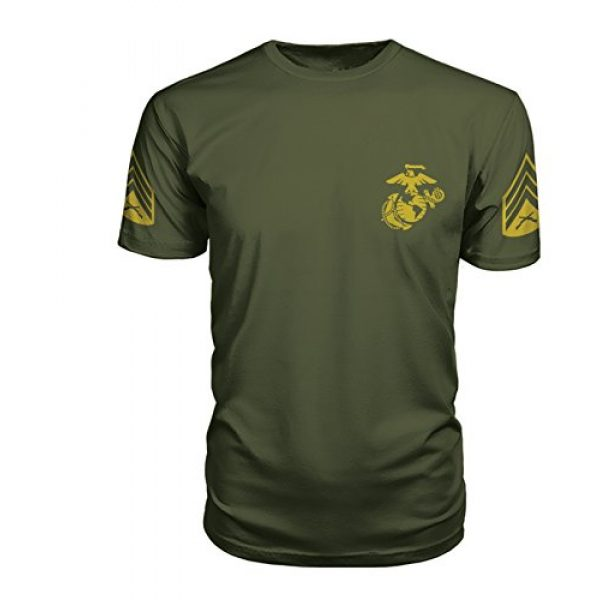 Armed Forces Apparel Graphic Tshirt 2 Sergeant of Marines Chevron Training T-Shirt