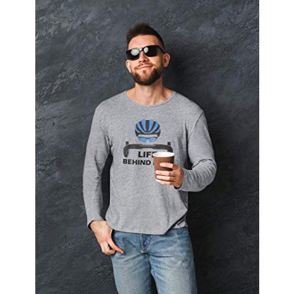 Tstars Graphic Tshirt 3 Life Behind Bars Shirt Gift for Bicycle Riders Funny Bike Long Sleeve T-Shirt