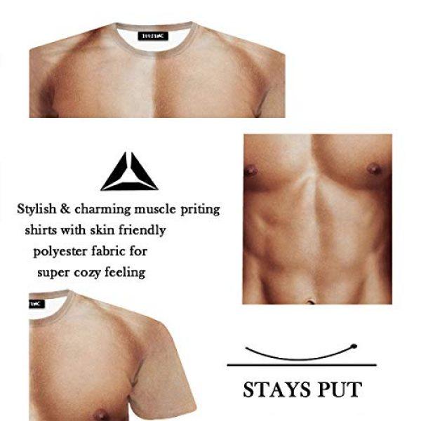 JIAYIQI Graphic Tshirt 3 3D Art Printed Short Sleeves Muscle T-Shirt Casual Summer Tees for Men