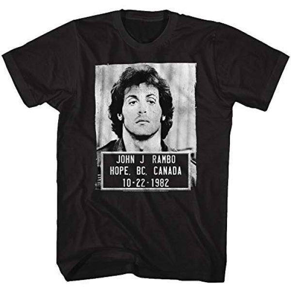 American Classics Graphic Tshirt 2 Rambo Film Series John J. Rambo Canada 1982 Mugshot Black Adult T-Shirt Tee