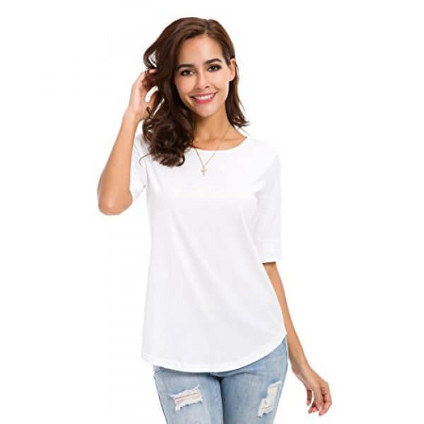 MSHING Graphic Tshirt 1 Women's Summer Casual Loose Fitting Tops Simple Crew Neck Plain Half Sleeve T-Shirt