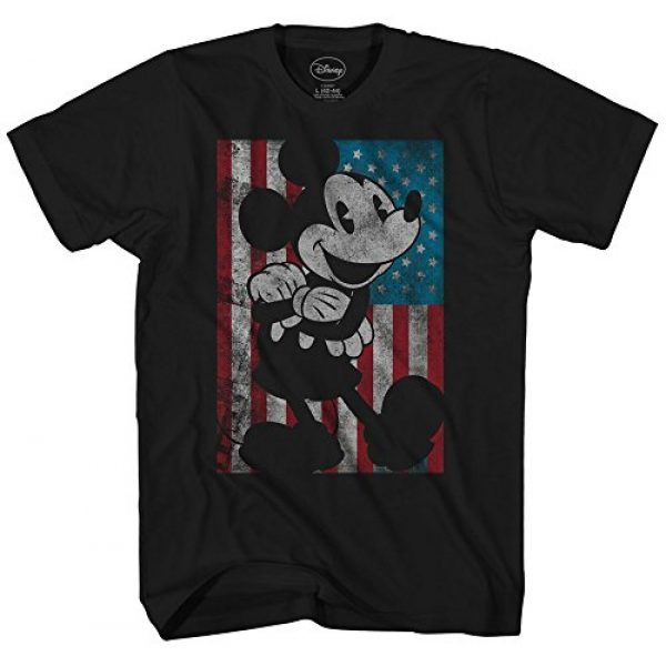Disney Graphic Tshirt 1 Mickey Mouse American Flag Classic Vintage Retro Distressed America Patriotic Adult Tee Graphic T-Shirt for Men Tshirt
