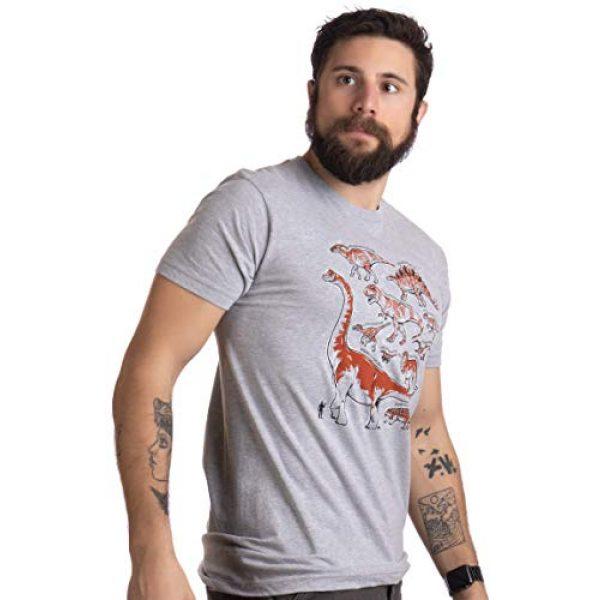 Ann Arbor T-shirt Co. Graphic Tshirt 3 Dinosaur Species | Dino Fan Party Costume T-Rex Raptor Shirt Men Women T-Shirt