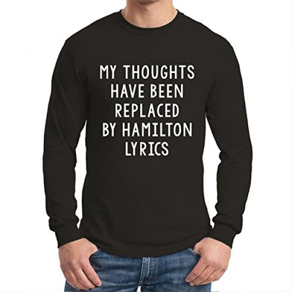 UGP Campus Apparel Graphic Tshirt 4 My Thoughts Have Been Replaced by Lyrics - Musical Long Sleeve T Shirt