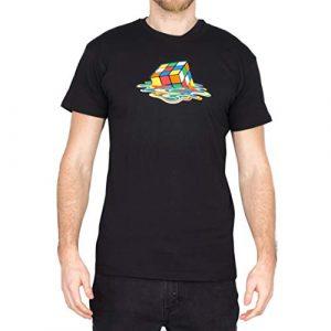 OKX Graphic Tshirt 1 Melting Sheldon Cooper the Big Bang Theory Black T-Shirt X-Large