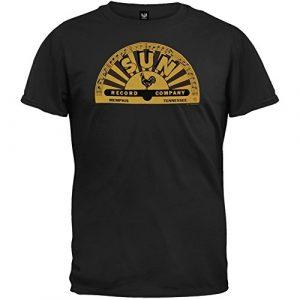 Old Glory Graphic Tshirt 1 Sun Records - Memphis Logo T-Shirt Size XL Black