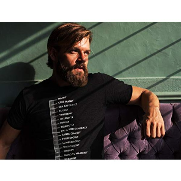 Tstars Graphic Tshirt 4 Gift for Bearded Men Beard Scale Men's T-Shirt