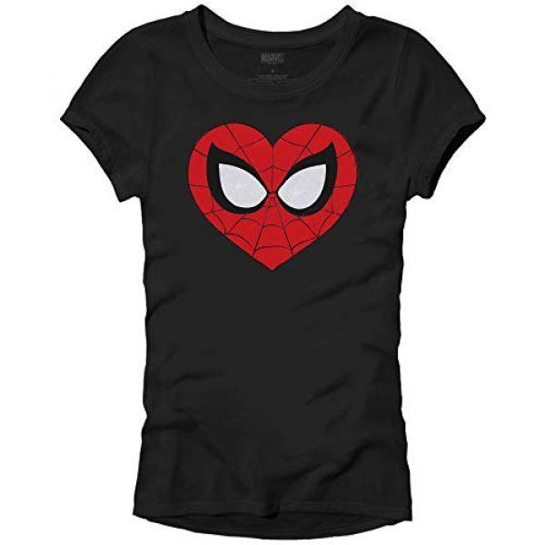 Marvel Graphic Tshirt 1 Spider-Man Face Mask Heart Logo Symbol Womens Juniors T-Shirt
