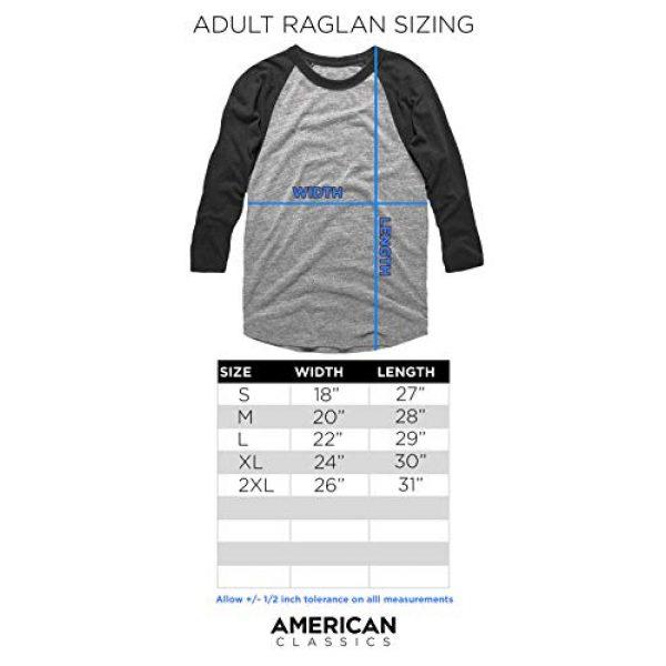 American Classics Graphic Tshirt 3 AC/DC Hard Rock Band Music Group in Black Logo Adult 3/4 Sleeve Raglan T-Shirt