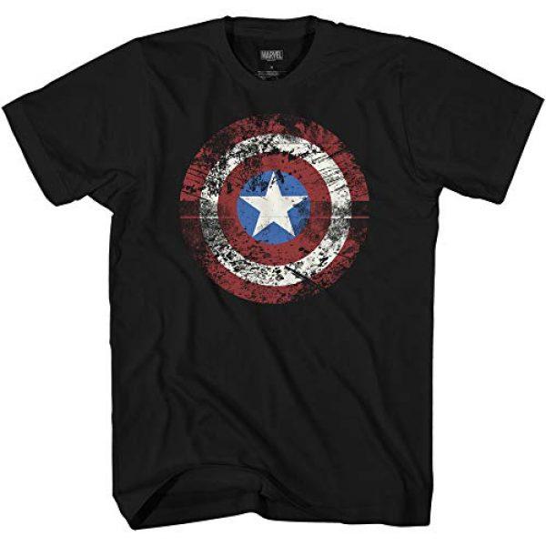 Marvel Graphic Tshirt 1 Captain America Shield Logo Mens Avengers T-Shirt
