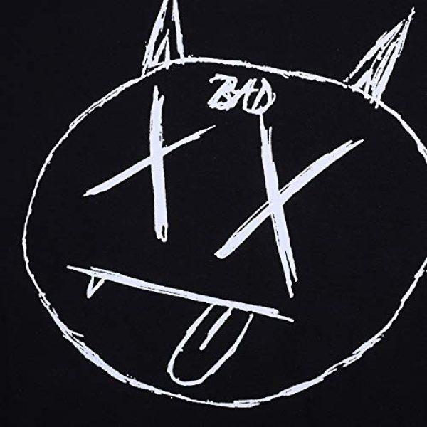 NAGRI Graphic Tshirt 5 Men's Gengar Vintage T Shirt Don't Kill Hip-Hop Graphic Printing Rap Music Tee White Black