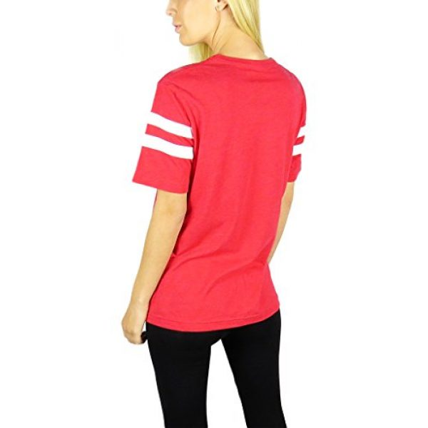 Disney Graphic Tshirt 2 Womens Minnie Mouse Varsity Football Tee Red