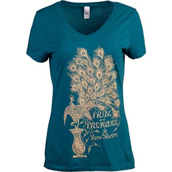 Ann Arbor T-shirt Co. Graphic Tshirt 1 Pride & Prejudice | Jane Austen 1813 Romance Book Club Reader Reading Women's V-Neck T-Shirt Top