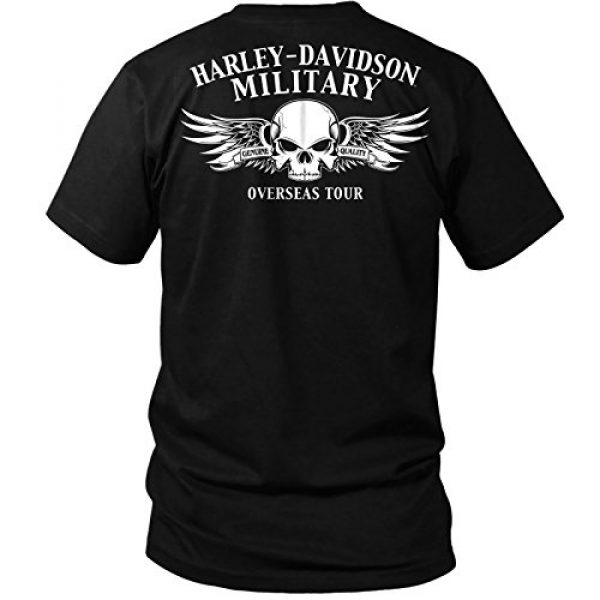 Harley-Davidson Graphic Tshirt 2 Military - Men's Short Sleeve Graphic T-Shirt - Overseas Tour | Dog Tags