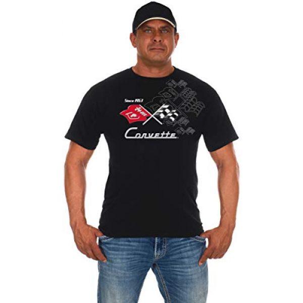 JH DESIGN GROUP Graphic Tshirt 1 JH Design Men's Chevy Corvette T-Shirts Collage 3 Colors Short Sleeve Crew Neck Shirt