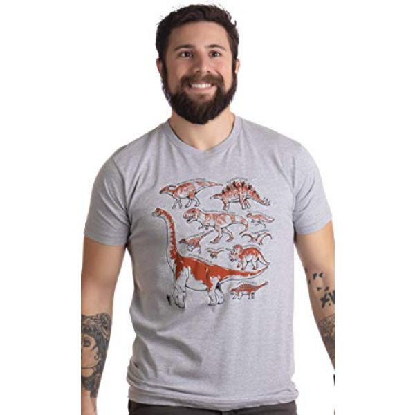 Ann Arbor T-shirt Co. Graphic Tshirt 2 Dinosaur Species | Dino Fan Party Costume T-Rex Raptor Shirt Men Women T-Shirt