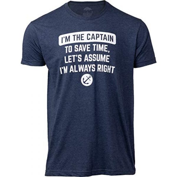 Ann Arbor T-shirt Co. Graphic Tshirt 1 I'm The Captain, Assume I'm Right | Funny Boating Nautical Joke Boat Humor T-Shirt for Men Women