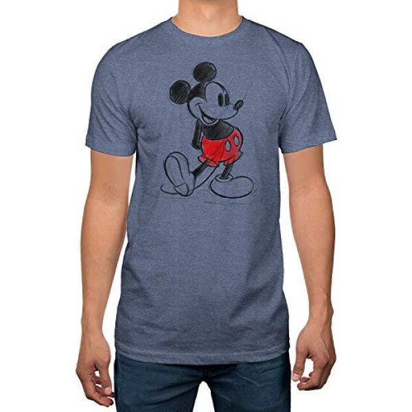 Disney Graphic Tshirt 2 Mickey Mouse Standing Pose Men's T-Shirt Blue