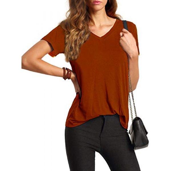 Floerns Graphic Tshirt 3 Women's Solid V Neck Short Sleeve Casual Tee Shirt Top