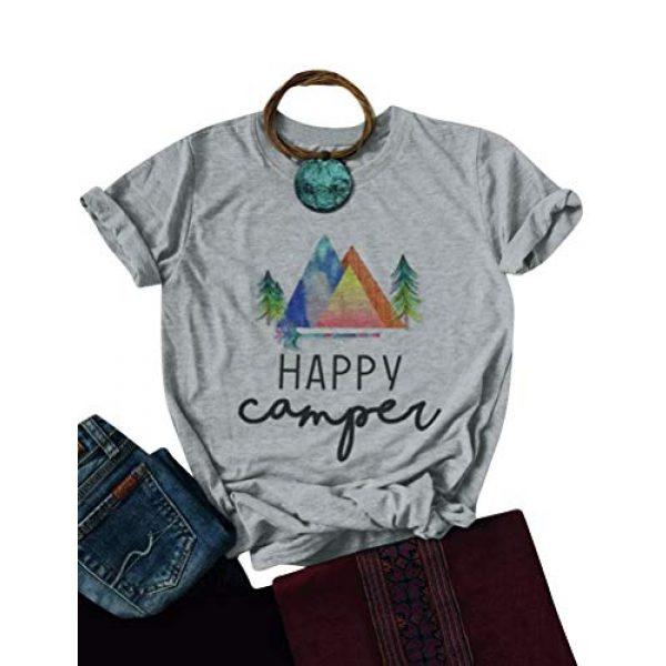 Nlife Graphic Tshirt 1 Women Casual Happy Camper Tee Shirts Hoodie Sweatershirt Graphic T Shirt Tops