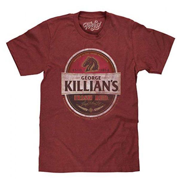 Tee Luv Graphic Tshirt 1 George Killian's Beer T-Shirt - Killians Irish Red Premium Lager Shirt