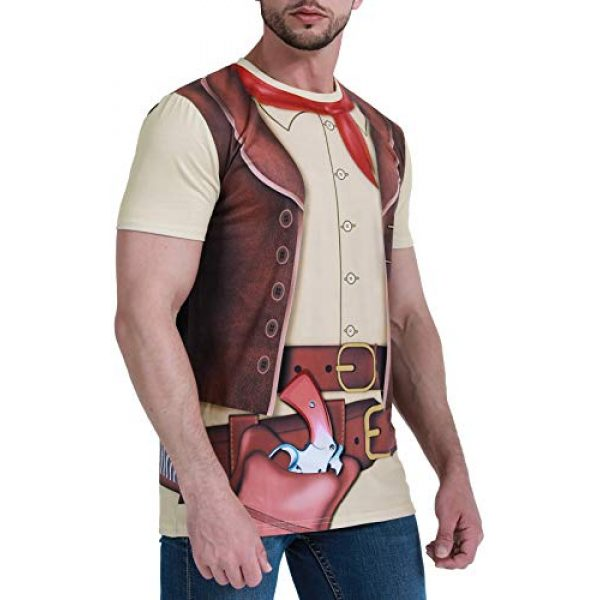 Funny World Graphic Tshirt 2 Men's Western Cowboy Costume T-Shirts