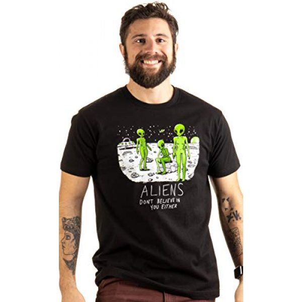 Ann Arbor T-shirt Co. Graphic Tshirt 2 Aliens Don't Believe in You, Either | Funny UFO Hunter Space Men Women T-Shirt