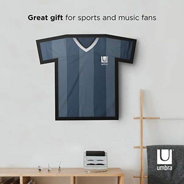 Umbra Graphic Tshirt 4 Umbra T-frame Unique Display Case to Showcase Adult Sized T-Shirts (Small to Large), Medium, Black