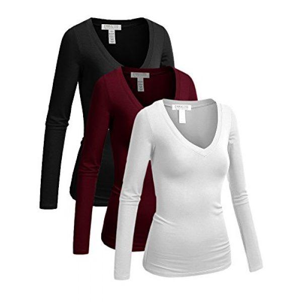 Emmalise Graphic Tshirt 1 Women's Junior and Plus Size Vneck Tshirt Long Sleeves Shirt Tee