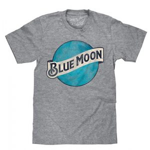 Tee Luv Graphic Tshirt 1 Blue Moon Big and Tall Shirt - Distressed Blue Moon Beer Logo T-Shirt