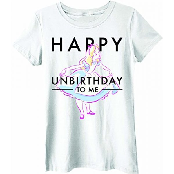 Disney Graphic Tshirt 1 Alice in Wonderland Happy Unbirthday Juniors T-Shirt