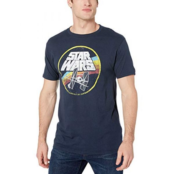 Star Wars Graphic Tshirt 1 Classic Logo and Tie Fighter Men's Short Sleeve T-Shirt