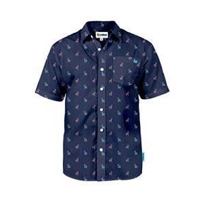 Tipsy Elves Graphic Tshirt 1 Men's Bright Hawaiian Shirt for Spring Break and Summer - Funny Aloha Shirt for Guys