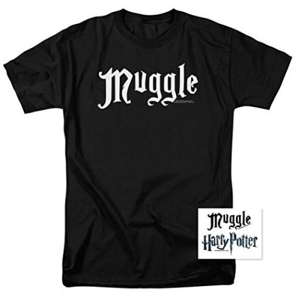 Popfunk Graphic Tshirt 2 Harry Potter Black Muggle T Shirt & Stickers