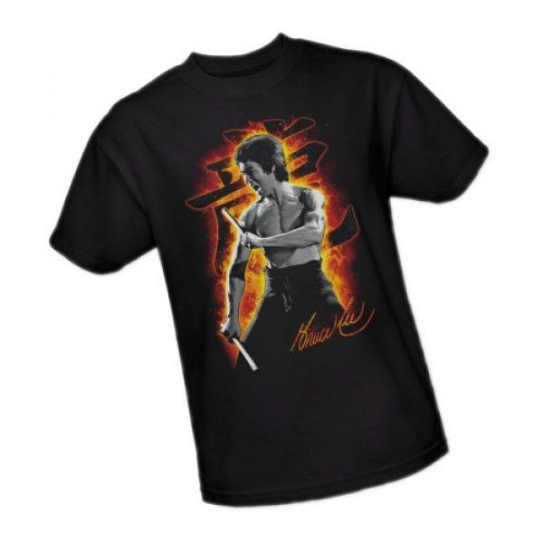 Bruce Lee Graphic Tshirt 1 Dragon Fire Adult T-Shirt