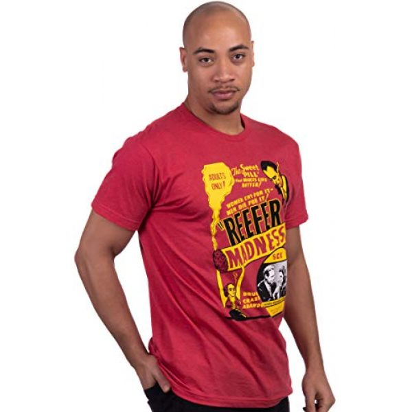 Ann Arbor T-shirt Co. Graphic Tshirt 3 Reefer Madness (1936 Poster) | Funny Absurd Vintage Drug War Marijuana Weed Pot Propaganda Men Women T-Shirt