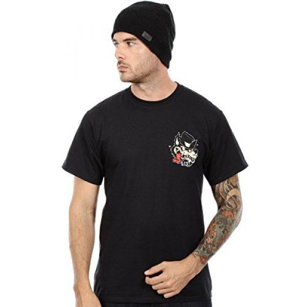 Lucky 13 Graphic Tshirt 3 Men's No Club Top Hat Lone Wolf T-Shirt Black