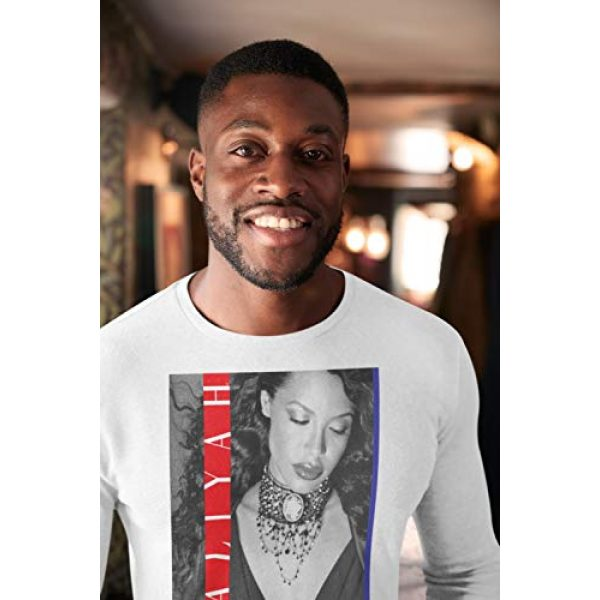 Ripple Junction Graphic Tshirt 5 Aaliyah Red and Blue Stripes Long Sleeve Crew T-Shirt